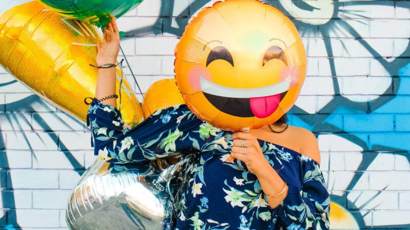 Cartoon smile by a women